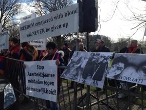 Demonstratie voor Nagorno Karabach